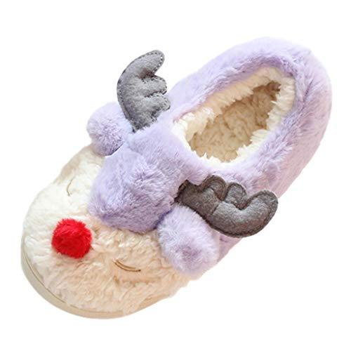 Posional Zapatillas de Casa para Mujer Slippers Hombre Zapatillas Fluff Antideslizantes Invierno...