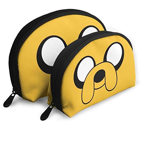 XCNGG Cartoni animati Adventure Time Borse cosmetiche Borsa portatile Pochette Set da donna Borsa da viaggio con cerniera Borsa Organizer 2Pcs