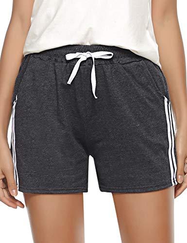Sykooria Pantalones Cortos Deportivos Mujer de algodón Cintura Ropa de Dormir Pantalones de chándal Pantalones para Entrenamiento físico, Yoga, Gimnasio