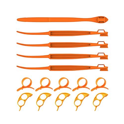 15 PCS Orange Peeler, Orange Citrus Peeler for Simple Slicing in the Kitchen