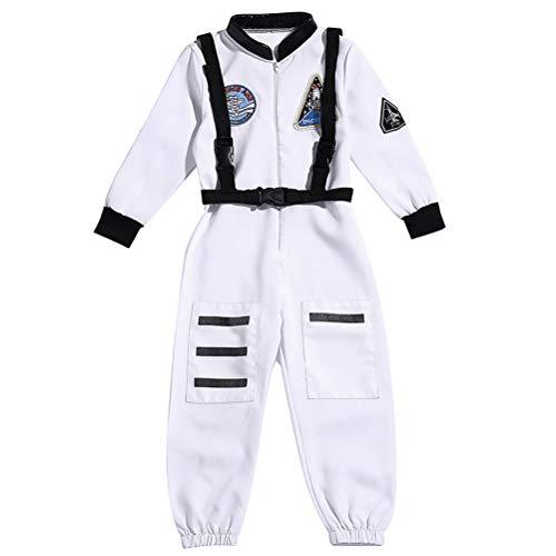 BESTOYARD Halloween Boy Astronaut Overall Kind Astronaut Kostüm Kindertag Cosplay Kostüm (weiß L)