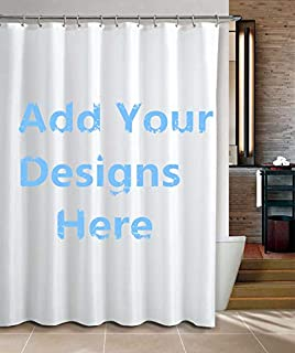 apple&tree Personalized Custom Bathroom Shower Curtain Sets with Mat Rugs-Add Your Own Designs Photo Here