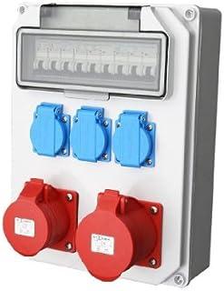 Wandverteiler CEE  1x16A  1x32A 3x230V Stromverteiler Baustromverteiler Feuchtraumverteiler Komplett AWVT5