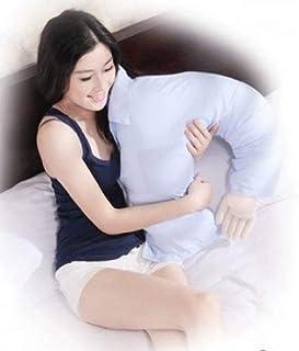 Gran almohada de pared para novio, con forma de mano, almohada de apoyo de lujo, almohada de apoyo de lujo, almohada para reposo en cama, azul cielo