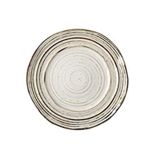 Assiette Fil Route Fournitures De Cuisine 14.7cm Plateau Vaisselle Western À Steak en Céramique pour Petit Déjeuner Blanc (Color : Blanc, Size : 20 * 11.7 * 2cm)