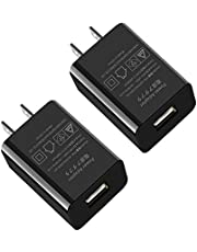 USB 充電器 ACアダプターAbosi 5V 2Aスマホ コンセント 2個セット 超小型 チャージャー 軽量 黒い 携带充電器 iPhone、Android各種対応 (2A)