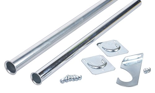 Closet Pro CD-0024-48/72ZC Heavy Duty Adjustable Rod, 48 by 72-Inch, Zinc Plated