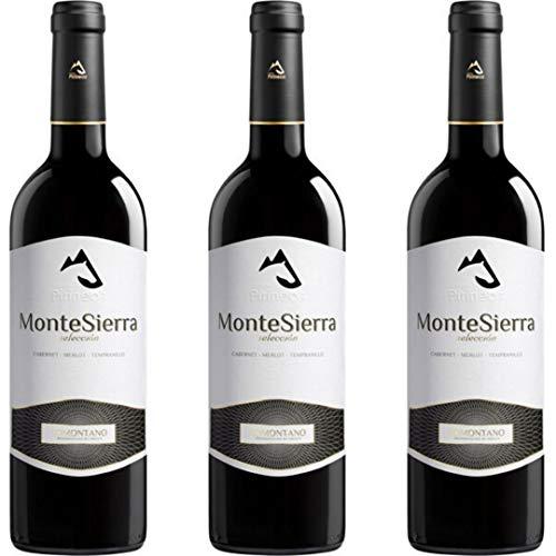 Montesierra Selección Vino Tinto Joven - 3 botellas x 750ml - total: 2250 ml