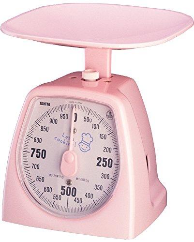 タニタ クッキングスケール キッチン はかり 料理? アナログ 1kg 5g単位 ピンク 1437-NPK