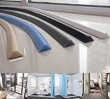 ZHXQ Caucho de Silicona Tiempo de Gaza Tira de Retención de Agua para Baño Platos de Ducha Profesional de Insonorización Prueba de Polvo Impermeable a Prueba de Viento 500CM