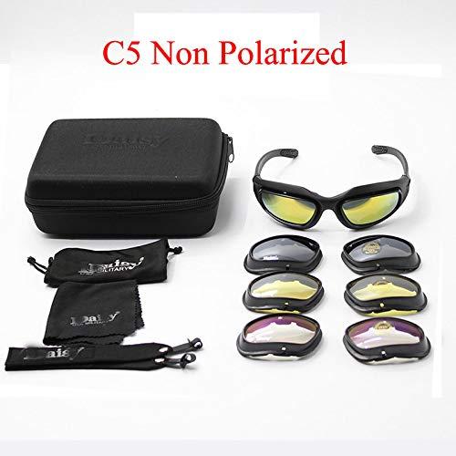 Saiyu C5 Army Goggles Desert Storm 4 Lente Outdoor Sports Caza Gafas De Sol Anti Uva Uvb X7 Polarizada Juego De Guerra Motocicleta Glasse C5 no polarizada