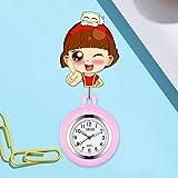 dihui Reloj Prendedor de Broche,Reloj retráctil Lindo Reloj de...