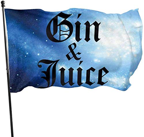 Fahnen Gin & Juice Flag 3x5 FT Flag Banner Flag Game Flag Anniversary Flag 3 X5 Feet House Banner Outdoor Flags