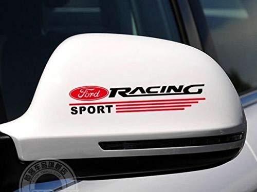 myrockshirt 2X Kompatibel für kompatibel für Ford Racing Sport Außenspiegel Aufkleber,Sticker,Decal,Autoaufkleber,UV&Waschanlagenfest,Profi-Qualität