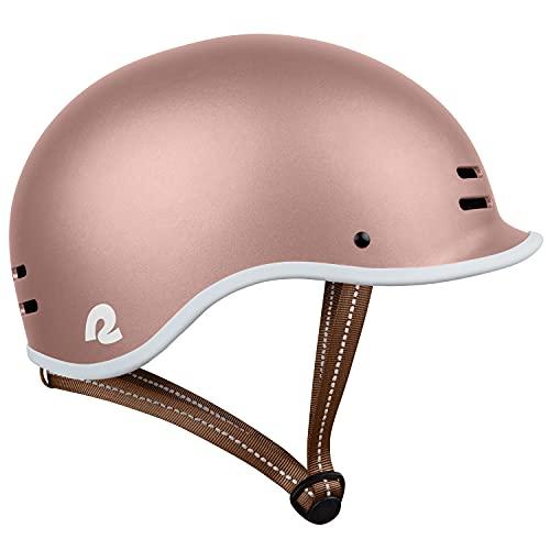 Retrospec Remi Adult Bike Helmet for Men & Women - Bicycle Helmet for Commuting, Road Biking, Skating, Rose Gold, Medium 57-59cm