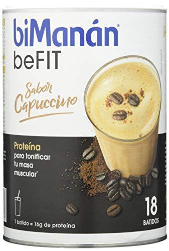 biManán - beFIT - Batido Cappuccino, Proteína para tonificar, 540 gr, 18 dosis de 30g
