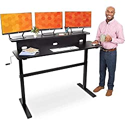 Two Level Sit & Stand Up Desk With Casters