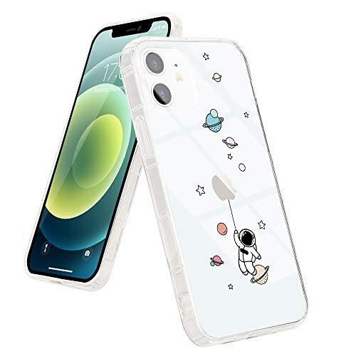 LCHULLE Coque pour iPhone 12 Pro Transparent Coque iPhone 12 Pro Antichoc avec Motif Espace Housse Etui Protection Ultra Fine Léger Case Souple Coque de Téléphone pour iPhone 12 Pro (Planète Bleue)
