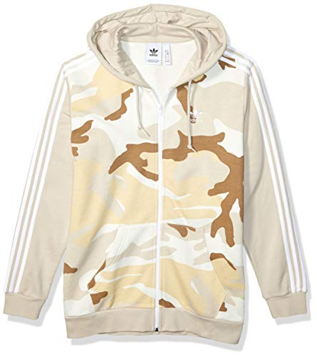 adidas Originals Herren Camo Full-Zip Hooded Sweatshirt Jacke, Multi/Clear Brown, Large