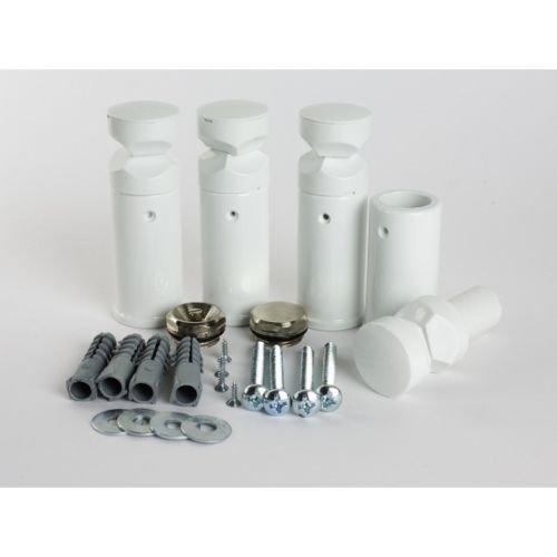 myhomeware Universal-Halterung für Handtuchhalter, flach, Gebogene Halterungen für Handtuchheizkörper