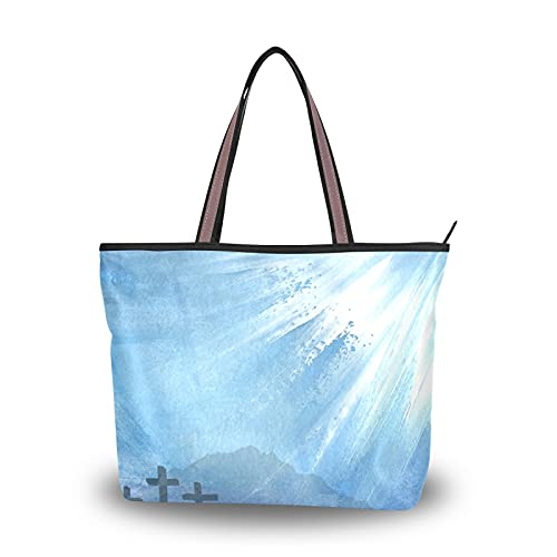 NaiiaN He Is Risen, bolsos de hombro con correa de peso ligero para madres, mujeres, niñas, señoras, bolso de mano para estudiantes, bolsos, monedero, compras