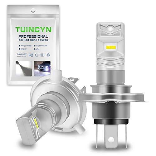 TUINCYN Ampoules antibrouillard à Del extrêmement Lumineuses, 1600 LM, 6500K, Blanc, 80W CSP Puces DRL Daylight LED Ampoule à Courant continu 12V-24V (Paquet de 2)