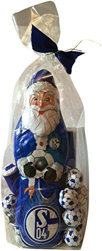 FC Schalke 04 Schoko Geschenk Set (XL Weihnachtsmann, Schokofussbälle, Team Schokolade, Massiv-Weihnachtsmänner)
