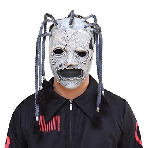 Bulex Slipknot Mask Corey Taylor Mask Dreadlocks Fancy Dress Halloween Mask Prop