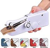 La Mini Máquina De Coser Portátil De La Máquina De Coser De La Mano Viste La Tela Quick Sew White