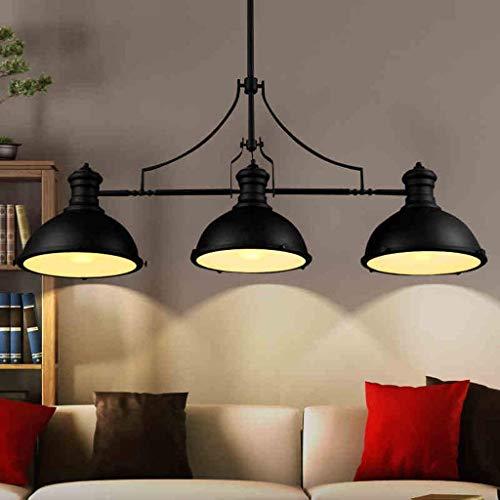 HUAXUE ZHXZHXMY Boutique Lighting - Nordic Shades Retro Billardtisch Lampen Professionelle Persönlichkeit Rustic Hotel Industrie DREI Loft Kronleuchter Stil Beleuchtung Kronleuchter Ausgabe: