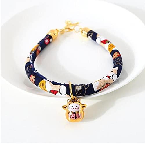 Ruluti Súper Cuello De Gato Estilo Japonés Shiba Inu Mascota Collares De Perro con Campana Colgante Collar Accesorios