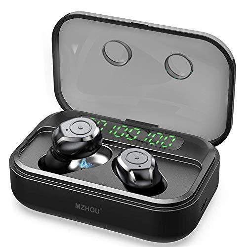 MZHOU Bluetooth Kopfhörer, 2020 Neuestes Kopfhörer Kabellos, Wireless Kopfhörer mit LED Digitalanzeige, Automatische Kopplung, 140 Std. Spielzeit, IPX7 BT5.0 luetooth Kopfhörer In Ear