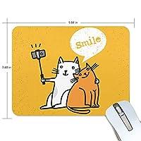 ユキオ(UKIO) マウスパッド おしゃれ 防水 滑り止め かわいい 使いやすい 北欧 ニャンコ 写真を撮る 女性 リストレスト マウス PCアクセサリ 男性