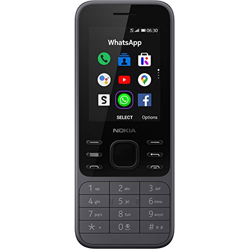 Nokia 6300 4G | Desbloqueado | Dual SIM | Punto de Acceso WiFi | Aplicaciones sociales | Google Maps y Asistente | Carbón Claro