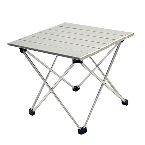 SHUJINGNCE Alliage d'aluminium Haute résistance Portable Table de Camping Pliante Pliante Pliable dîner extérieure pour Famille de Pique-Nique BBQ (Color : Gray Small)