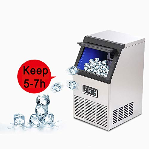 SND-A Kommerzielle Eismaschine 60KG / 24H Edelstahl-Eismaschine Mit Großer Lagerkapazität Industrielle Eismaschine Automatische Reinigung Für Bar Home Supermärkte