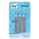 blu Ionic Power Filter - Lot de 3 cartouches de filtration NMC de rechange, anti-métaux lourds, anti-chlore