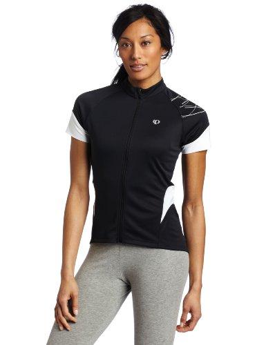 PEARL IZUMI - Maillot de Ciclismo para Mujer, tamaño XL, Color Negro/Blanco