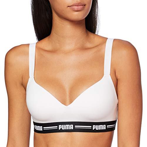 PUMA Iconic Padded Women's Top (1 Pack) Sujetador con Relleno, Blanco, S para Mujer