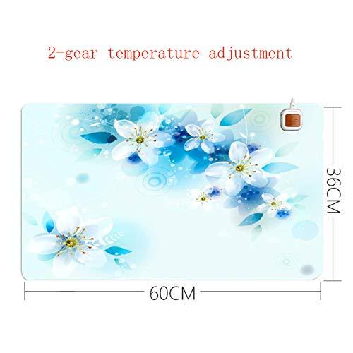 HKDJ-printmodel verwarmingsmat muismat, handwarmer voor tafel/bureau, voor studenten, voor kinderen en voeten 60 x 36 cm