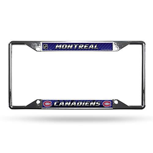 NHL Rico Industries  Laser Cut Inlaid Standard Chrome License Plate Frame Toronto Maple Leafs