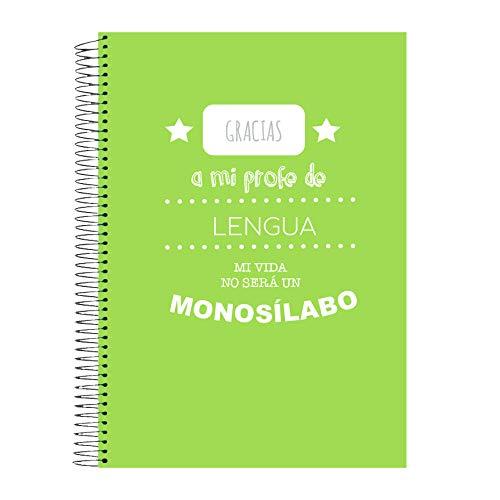 Cuaderno Lengua A4 cuadrículas | Gracias Profe| Material escolar | La Boutique del Profe