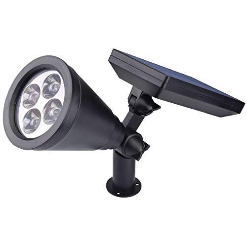 ZSGZ 1.6W Waterproof Outdoor Solar Wall Light 4 LED F10 Straw Hat Spotlight Garden Light