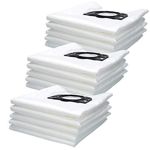 15 Sacs Filtre d'Aspirateurde pour Karcher Polaire filtrants de Remplacement pour Wd4, Wd5, Wd5/P Wet & Dry aspirateurs MV4, MV5, MV6