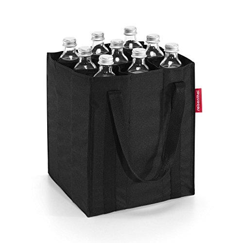 reisenthel bottlebag ZJ7003 black – Flaschentasche zum Transportieren von neun Flaschen – Kompakt, komfortabel und stoßgeschützt – B 24 x H 28 x T 24 cm