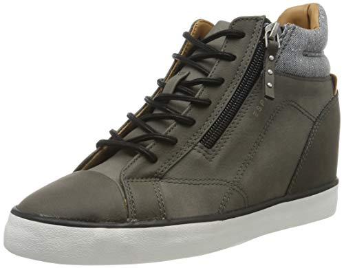 ESPRIT Damen Star Wedge Hohe Sneaker, Grau (Brown Grey 025), 41 EU