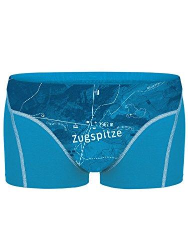 Een mooie vlekkaarde. Heren Boxershorts Zugspitze, biologisch katoen, fair geproduceerd, Alpine Design, bedrukt, Alpenblauw