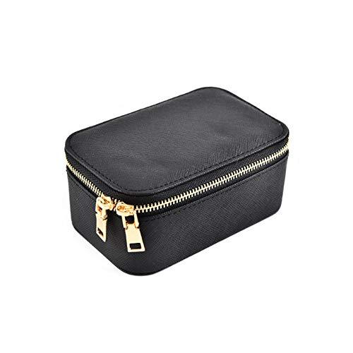 YuxahiugSNH Jewelry Box Portable Ring Storage Box, Velvet Chain Makeup Box