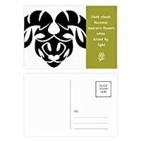 星座牡羊座十二宮シンボル 詩のポストカードセットサンクスカード郵送側20個