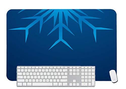 Alfombrilla de ratón para juegos brillante copo de nieve para escritorio y portátil 1 paquete de 800 x 400 x 3 mm/31,5 x 15,7 x 1,1 pulgadas